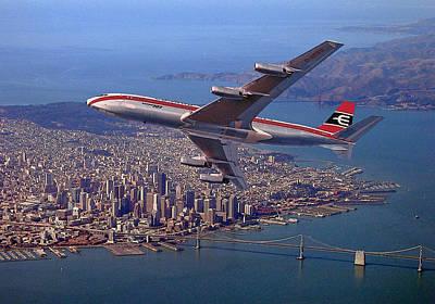 Photograph - Cunard Eagle Airways 707 by Nop Briex