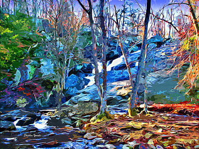 Trout Digital Art - Cunningham Falls by Stephen Younts