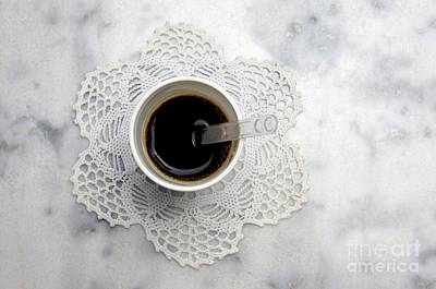 Lace Photograph - Cup by Bernard Jaubert