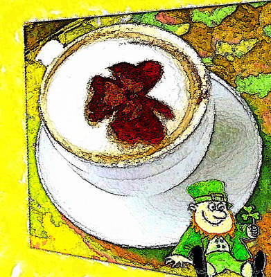 Digital Art - Cup O' The Irish by Carrie OBrien Sibley