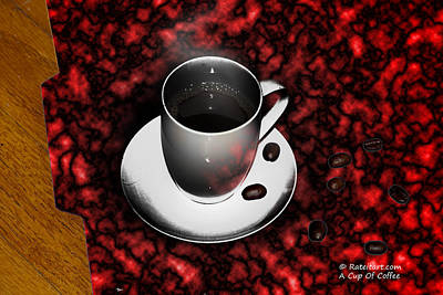 Digital Art - Cup Of Coffee by James Ahn