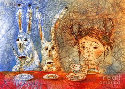 Cup Of  Milk  Art Print by Svetlana and Sabir Gadzhievs