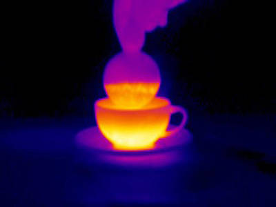 Cup Of Tea, Thermogram Art Print by Tony Mcconnell