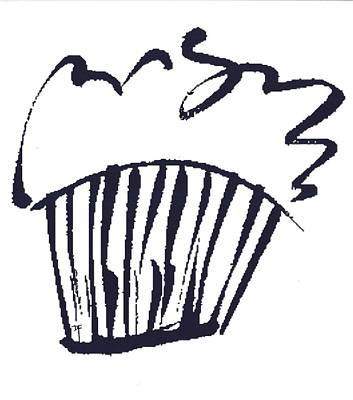 Drawing - Cupcake by Darlene Flood
