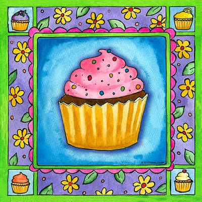 Painting - Cupcake by Pamela  Corwin