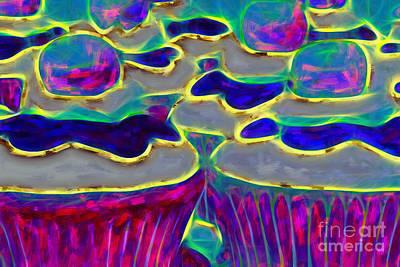 Photograph - Cupcakes V2 - Painterly by Wingsdomain Art and Photography