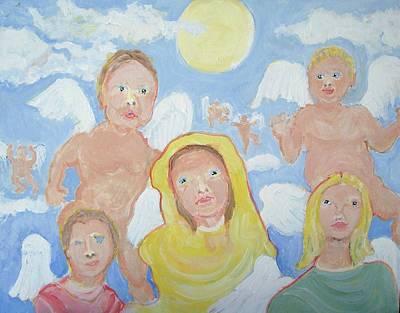 Curious Angels Original by Jay Manne-Crusoe