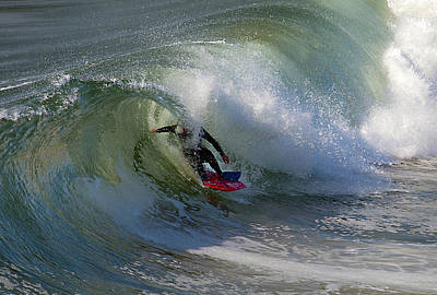 Catch A Wave Photograph - Curled by Joe Schofield