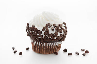 Photograph - Curly Q Chocolate Cupcake by Andee Design