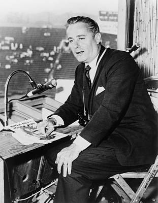 Curt Gowdy, Sportscaster And Voice Art Print by Everett