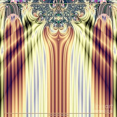 Curtain Call Spotlights Fractal 133 Art Print by Rose Santuci-Sofranko