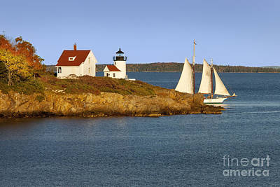 Photograph - Curtis Island Light  by Brian Jannsen