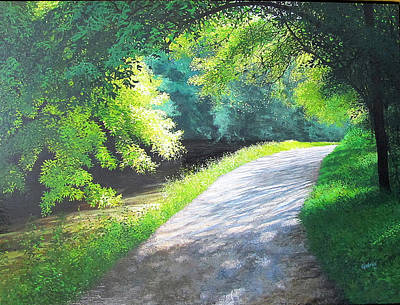 Painting - Curve Canal And Sunlight by David Bottini