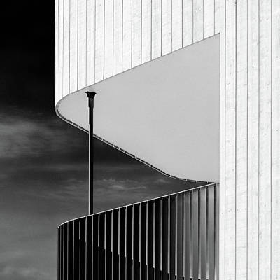 Photograph - Curved Balcony by Dave Bowman