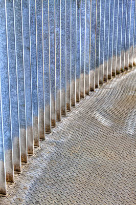 Photograph - Curved Metal Walkway by Jean Noren