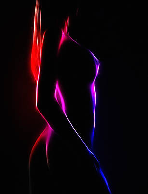 Female Body Digital Art - Curves by Steve K