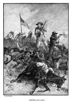 Custers Last Fight Print by Granger