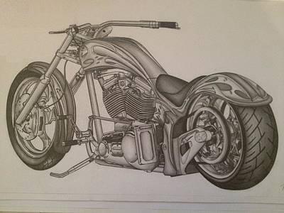 Custom Chopper Art Print