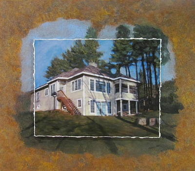 Mixed Media - Custom Home 1 Layered by Anita Burgermeister