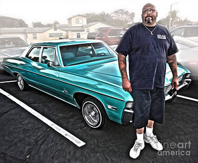 Photograph - Custom Lowrider Chevy by Gregory Dyer