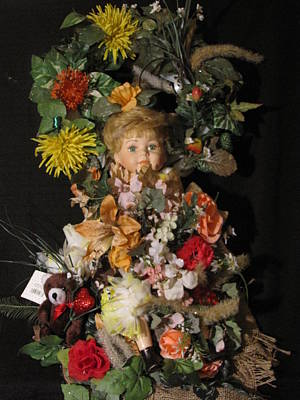 Custom Made Porcilin Doll Wall Arrangement 5 Original by HollyWood Creation By linda zanini