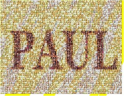Taylor Swift Digital Art - Custom Paul Mosaic Taylor Swift by Paul Van Scott