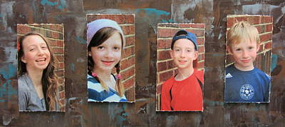 Mixed Media - Custom Photo Portrait Group by Anita Burgermeister