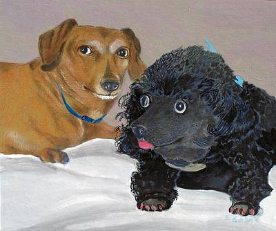 Painting - Cute Friends  Sold by Jack Bolin