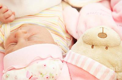 Cute Little Baby Sleeping Print by Anna Om