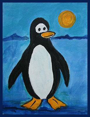 Penguin Painting - Cute Penguin by Paintings by Gretzky