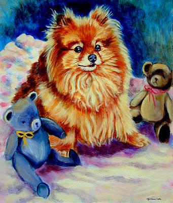 Pomeranian Painting - Cutie Pie - Pomeranian by Lyn Cook