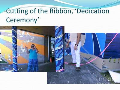 Painting - Cutting The Ribbon Ceremony  by Carol Rashawnna Williams