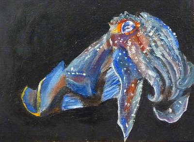 Art Print featuring the painting Cuttlefish II by Jessmyne Stephenson