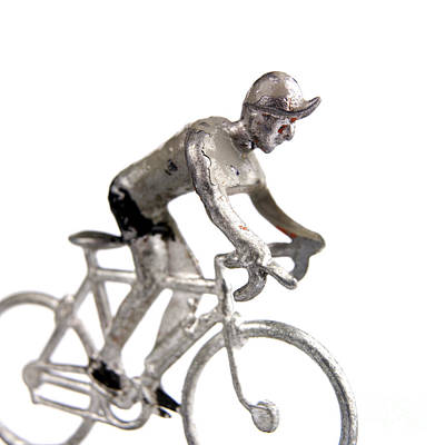 Up-cycled Photograph - Cyclist by Bernard Jaubert