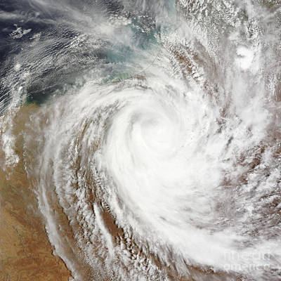Photograph - Cyclone Laurence Moves Far Inland by Stocktrek Images