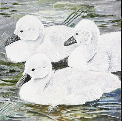 Painting - Cygnets by Betty-Anne McDonald