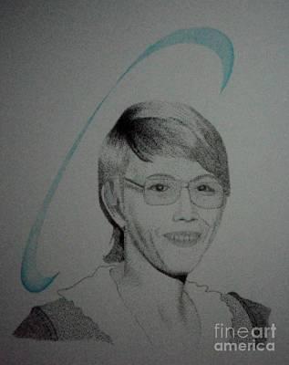 Drawing - Cyndi by Kip Vidrine