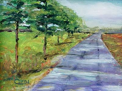 Art Print featuring the painting Cypress Lane by Carol Berning
