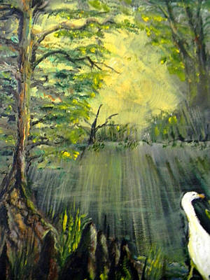 Painting - Cypress Morning by Christy Usilton