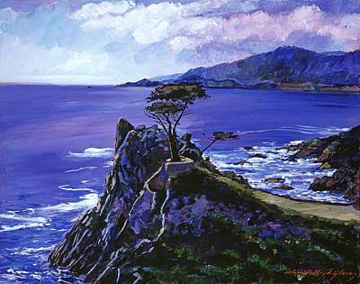 Monterey Painting - Cypress Point Monterey by David Lloyd Glover