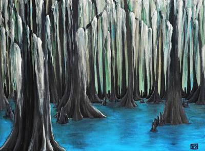 Painting - Cypress Spring by Holly Donohoe