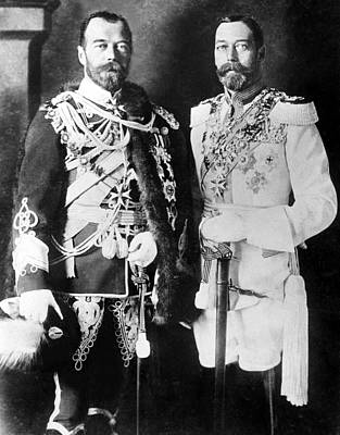 Czar Nicholas II Of Russia L, And King Print by Everett