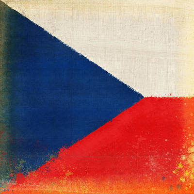 Czech Republic Flag Art Print by Setsiri Silapasuwanchai