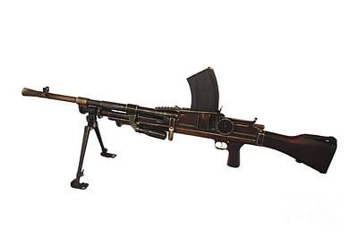 Czechoslovakian Light Machine Gun Print by Andrew Chittock