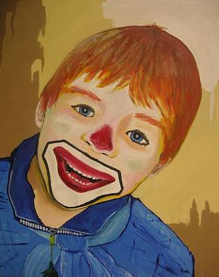 Painting - D Clown by Rock Rivard