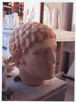 Sculpture - d Roma Head-replica by Memo Memovic