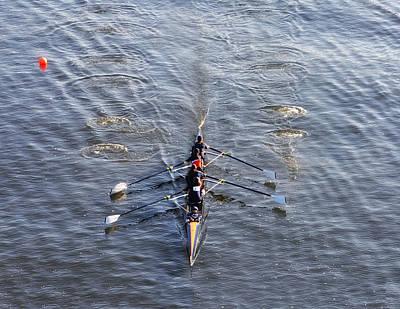 Rower Digital Art - Dad Vail Regatta  by Bill Cannon