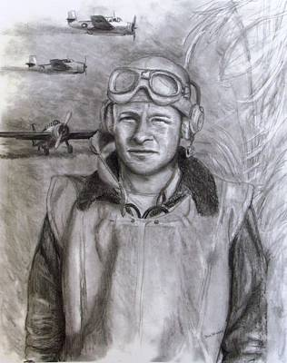 Drawing - Dad Ww2 by Jack Skinner