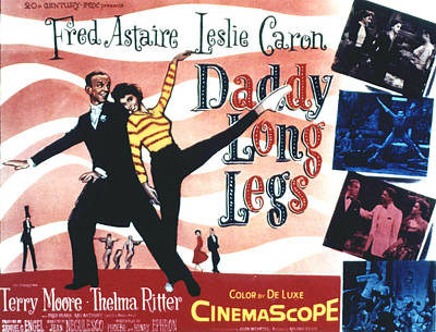 Daddy Long Legs, Fred Astaire, Leslie Art Print