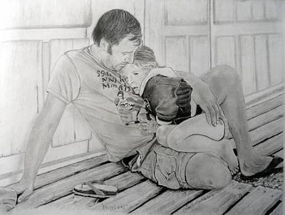 Daddy's Girl Art Print by Peter Morris